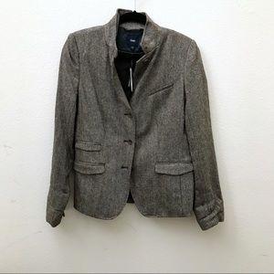 NEW GAP brown herringbone blazer jacket